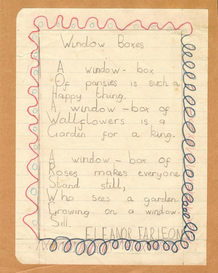 Window Box poem
